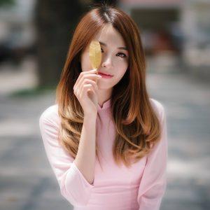 áo dài hồng pastel