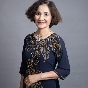 áo dài cho mẹ màu xanh tím than 2019