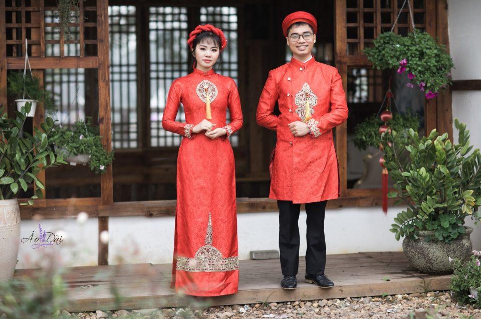 thuê áo dài cặp đôi cô dâu chú rể tại hà nội